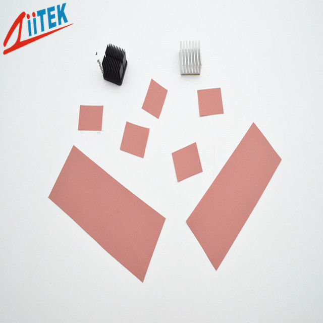 Pink Thermally Conductive Electrical Insulator High Pressure Interface Customized Shape